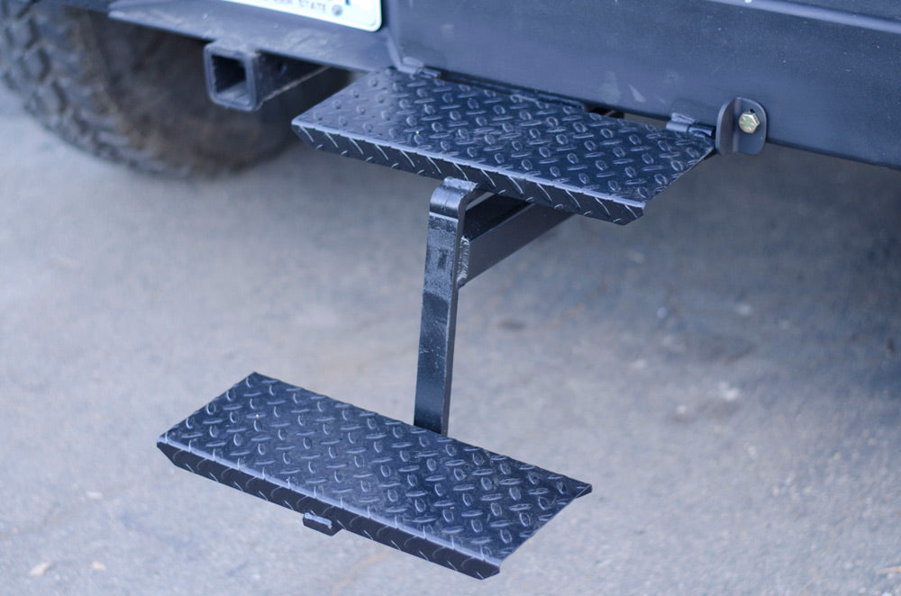 hinge stairs on offroad overlanding