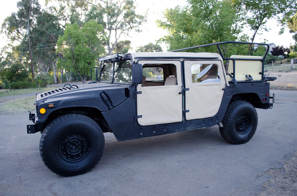Humvee rear cage or rack with seating