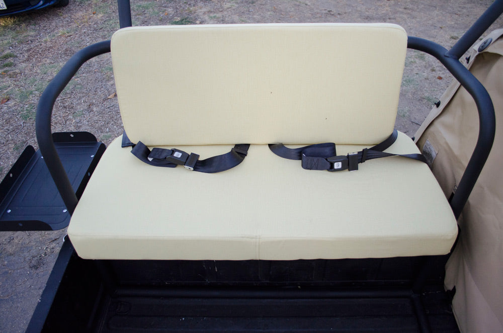 Rear metal fabricated seating on offroad vehicle