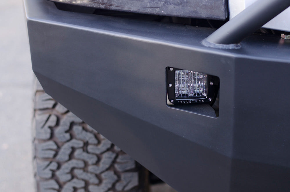 Custom Nissan Titan bumper rigid lights