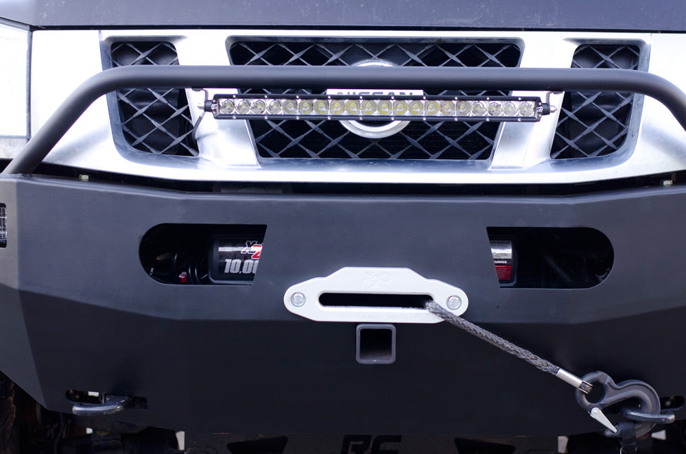 Custom Nissan Titan bumper built in winch