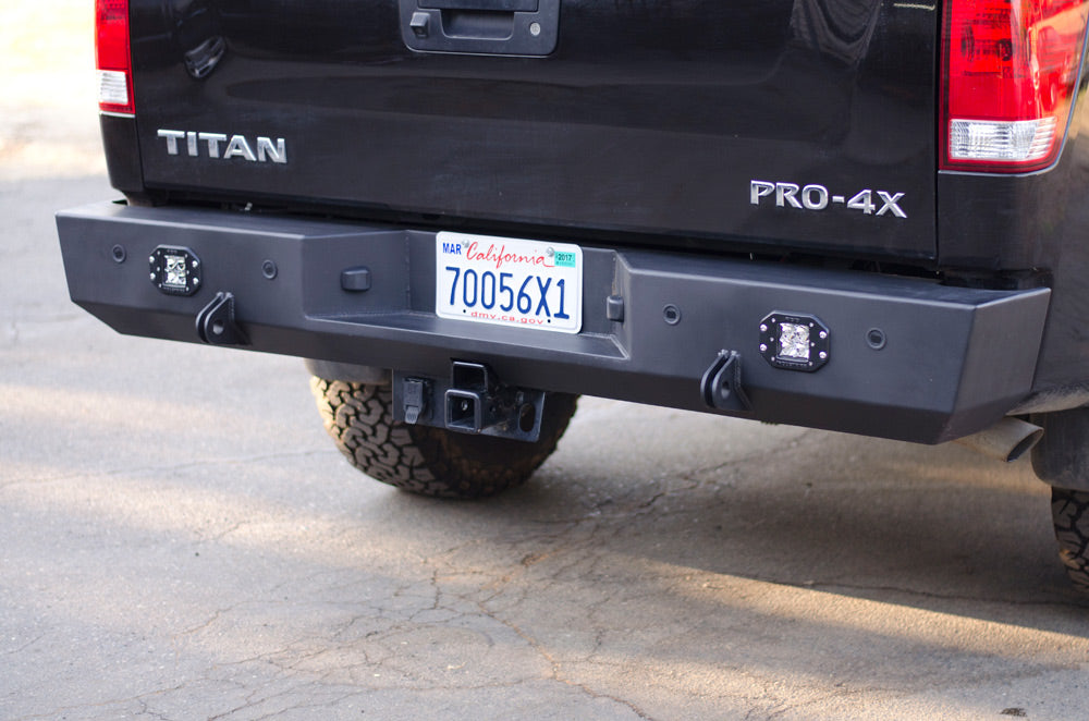custom rear bumper nissan titan with lights and backup sensors