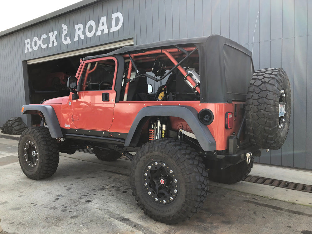 2006 Jeep Wrangler LJ Suspension upgrades, trailing arms, ADS coil overs and bypass shocks,steering kit, 3 link