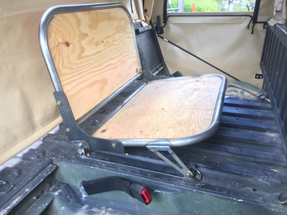 fabricated rear bench seat