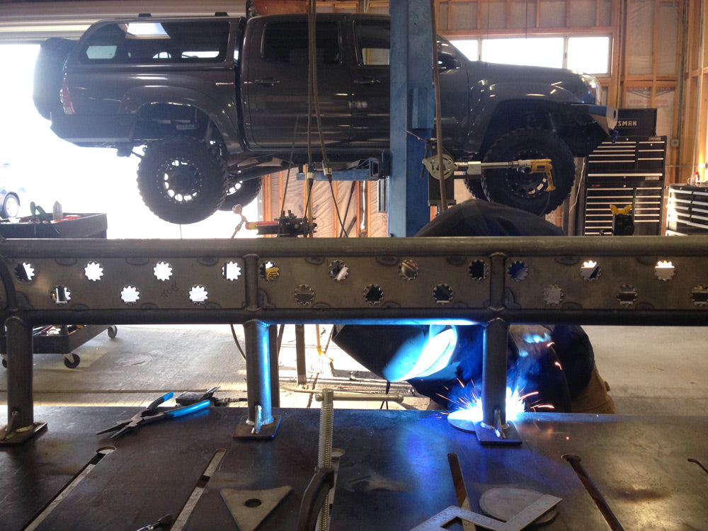 toyota tacoma sliders for snow, offroad sliders, overland sliders by rock and road