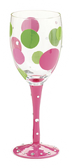 Zany Dot Wine Glass