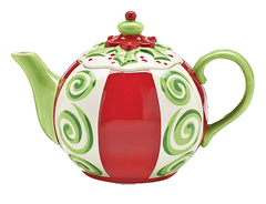Teapot Whimsical Holly