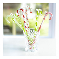 Glass Candy Cane Orn