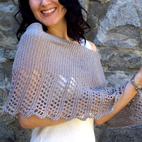 Cool Hemp Ponchette knitting pattern