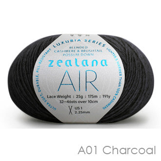 Zealana AIR Lace Charcoal