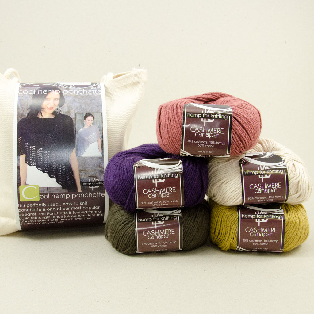 Hemp for Knitting Cool Hemp Ponchette Kit