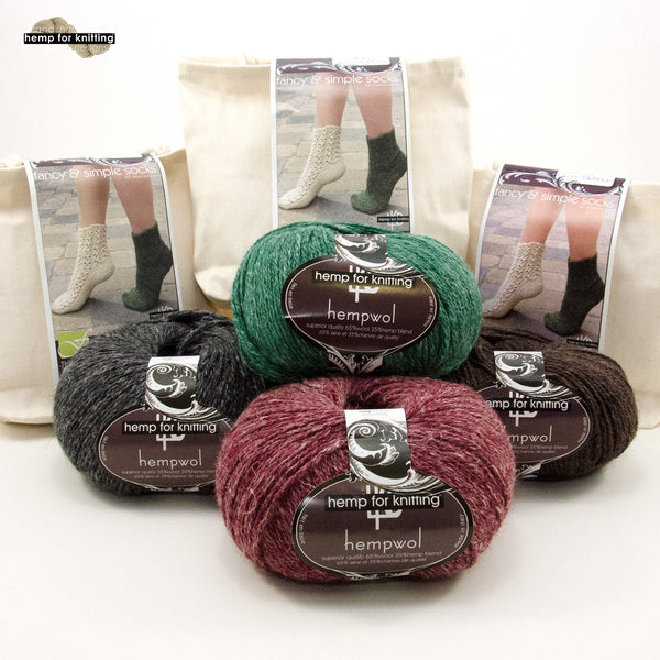 Hemp for Knitting Fancy and Simple Socks Kit