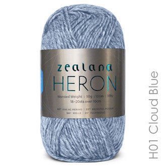 Zealana HERON Worsted Cloud Blue