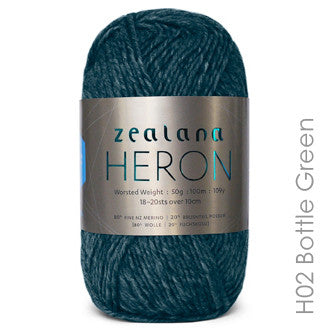 Zealana HERON Worsted Bottle Green