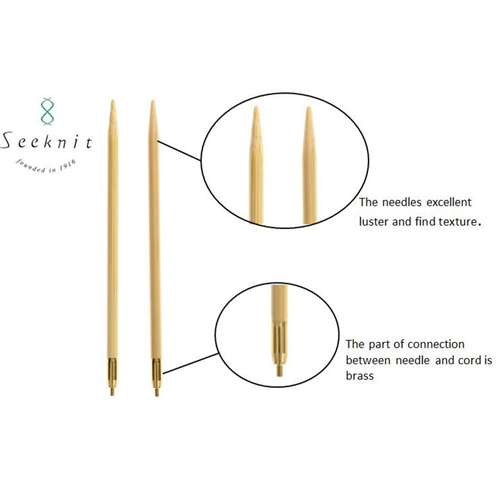 KA Seeknit Fixed Circular Bamboo Knitting Needles 100cm