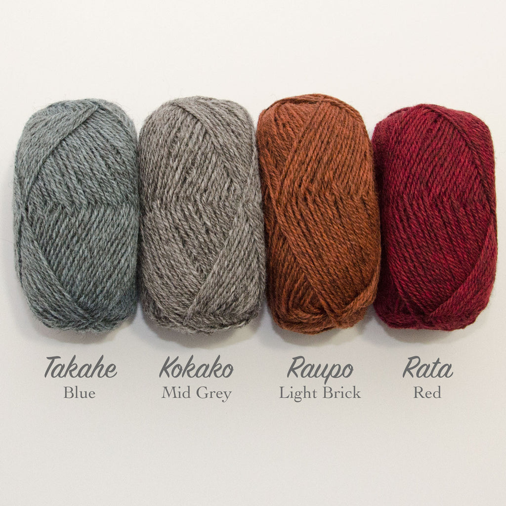 Stansborough Mithril 8ply Takahe Kokao Raupo Rata