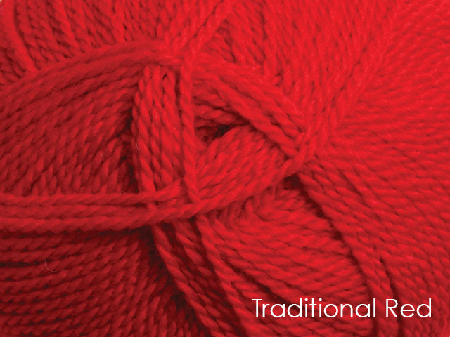 Ashford Tekapo 8 ply Traditional Red