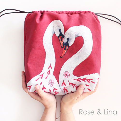 The Blue Rabbit House Project Bag Rose & Lina