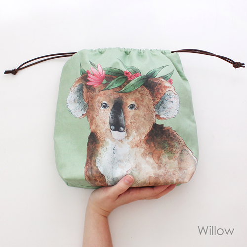 Willow, the koala, project bag