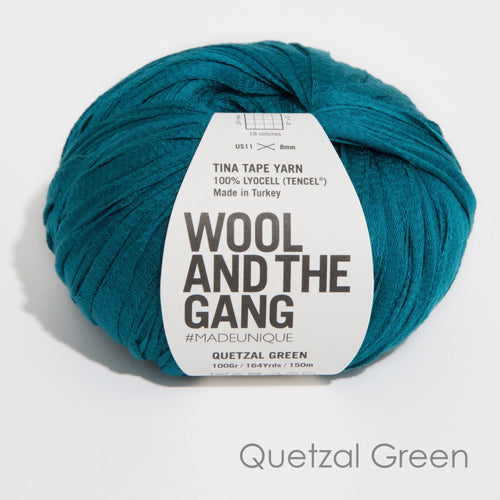 Wool And The Gang Tina Tape Quetzal Green