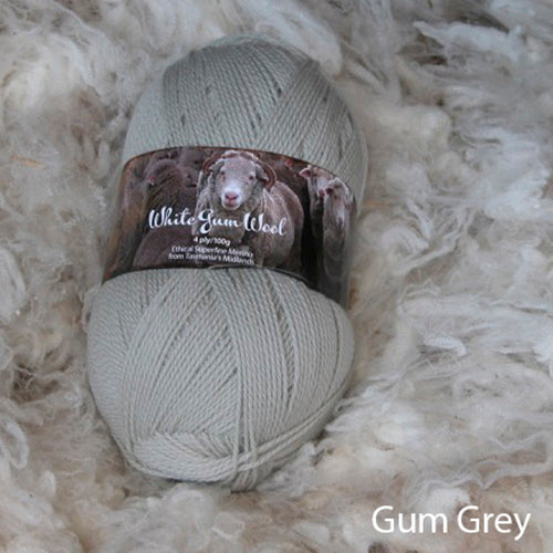 White Gum Wool Ethical Superfine Merino 4 ply
