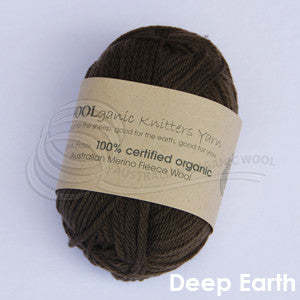 WOOLganic 8ply Deep Earth