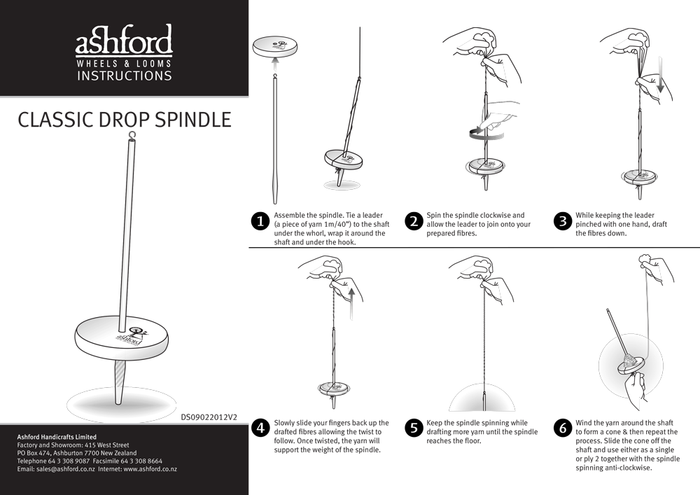 how to use a classic drop spindle