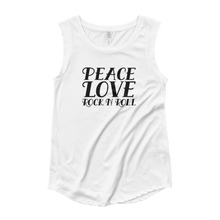 Load image into Gallery viewer, Peace, Love, Rock N Roll Muscle Tee