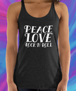 Peace, Love, Rock N Roll Tank