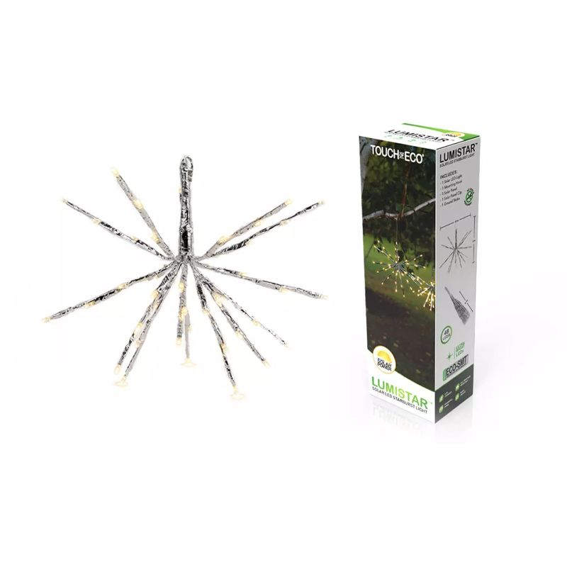 Solar LED Hanging Snowflake Starburst Light