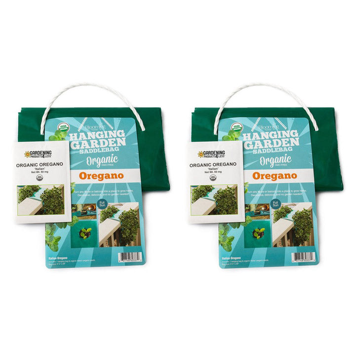 USDA Organic and GMO-free Basil  Oregano  or Parsley Hanging Herb Kit - 1  2 or 3 Pack - The remedy barn