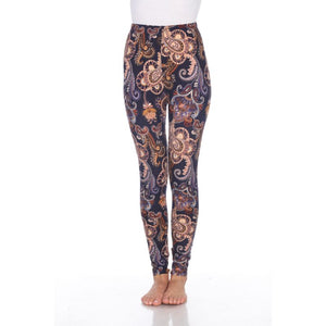 Women's One Size Fits All Printed Leggings by White Mark