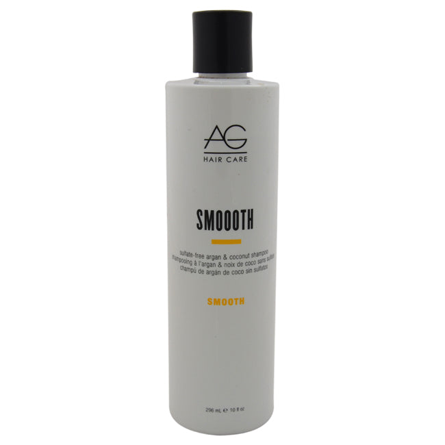 Smoooth Sulfate-Free Argan and Coconut Shampoo by AG Hair Cosmetics for Unisex - 10 oz Shampoo - The remedy barn