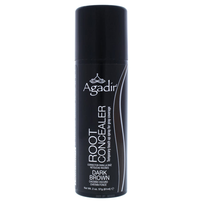 Root Concealer Temporary Touch Up Spray - Dark Brown by Agadir for Unisex - 2 oz Hair Color - The remedy barn