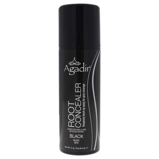 Root Concealer Temporary Touch Up Spray - Black by Agadir for Unisex - 2 oz Hair Color - The remedy barn