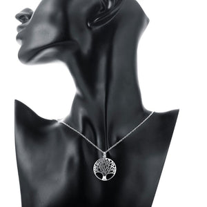 Tree of Life Necklaces Plated in 18K White Gold - The remedy barn