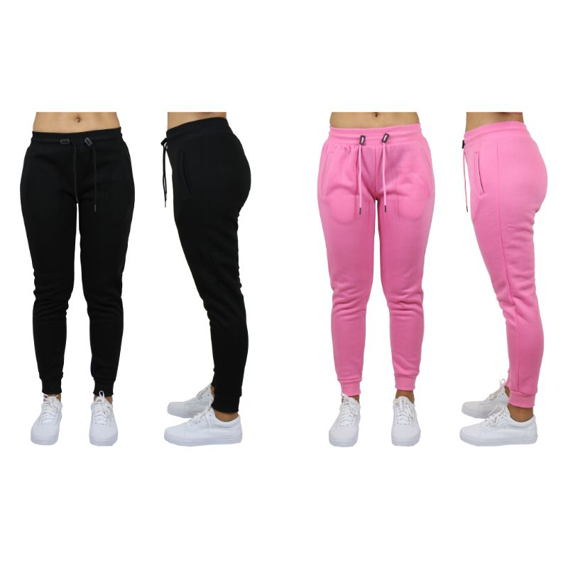 Women's Classic Fleece Jogger Sweatpants - 2 Pack - The remedy barn