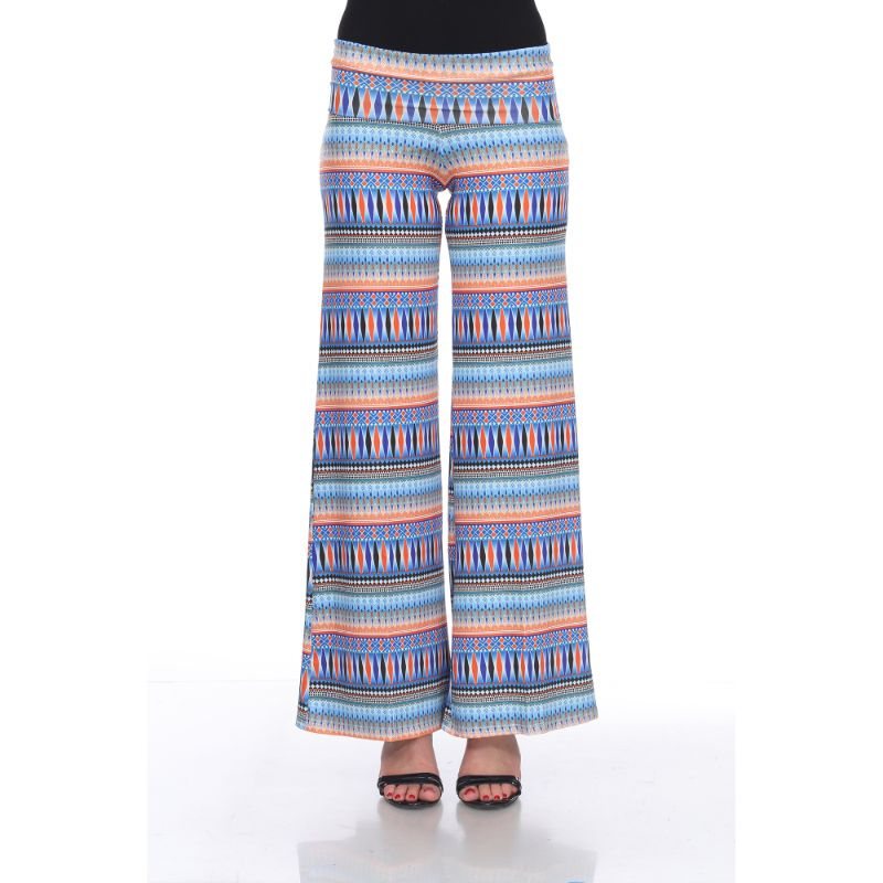 Women's Printed Palazzo Pants - Multi Tribal - The remedy barn