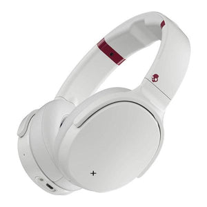Skullcandy Venue Active Noise Cancelling Headphones  Tile Integration  24-Hour Battery Life  White/Crimson - The remedy barn