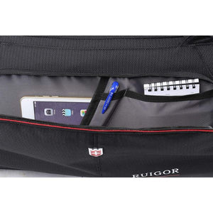 Ruigor Motion 07  32L Duffel Bag with Sweat Control Shoe Compartment  Water Resistant - Black - The remedy barn