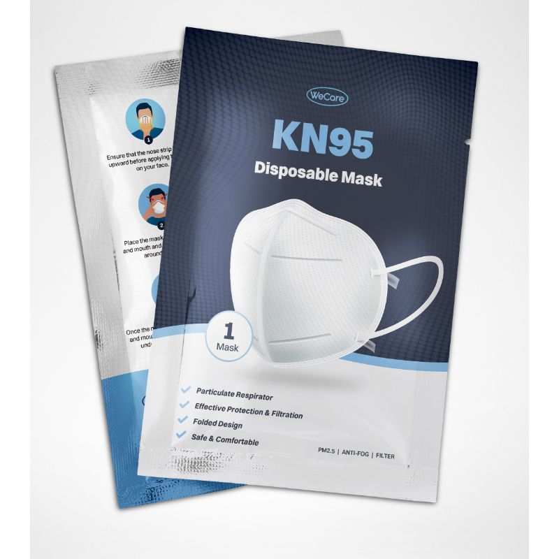 WeCare KN95 Respirator Face Masks 95% Filtration - 5 Pack - The remedy barn
