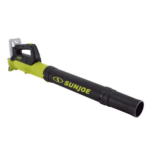 Sun Joe 24-Volt iON+ 2.0-Ah Cordless Compact Turbine Jet Blower  Green - The remedy barn