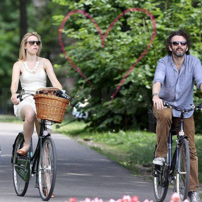 Celebrity Couples Enjoy the Freedom of Biking Together