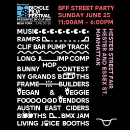6/25 Bicycle Film Festival Street Festival