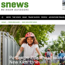 Snews Announces Kids Line To the Outdoor Industry