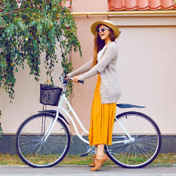 How to Safely Ride a Bike in a Skirt or Dress