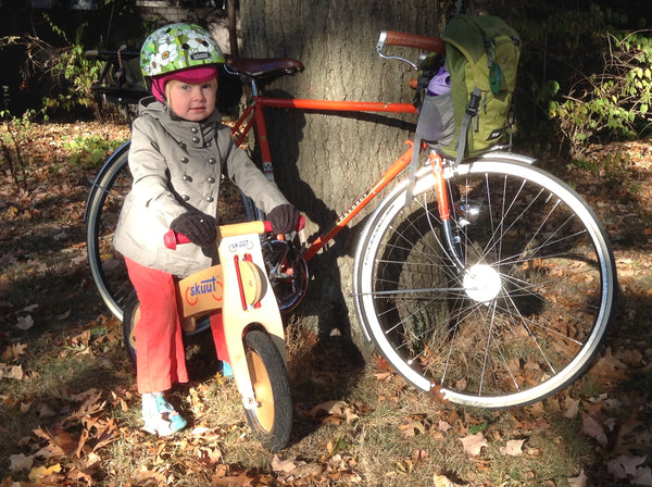 Biking to School - Balance Bike