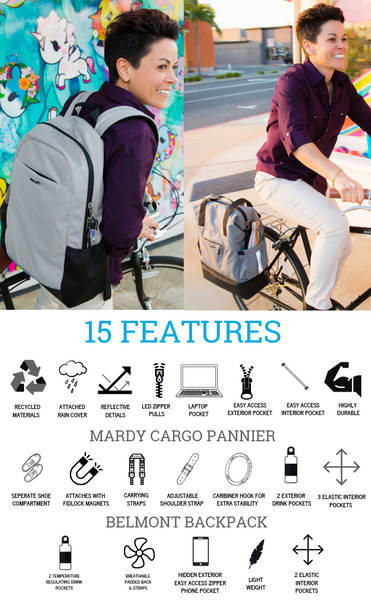 Po Campo Sustainable bike bags with 15 features
