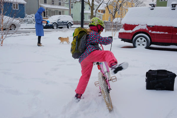 Biking to School - Winter Biking