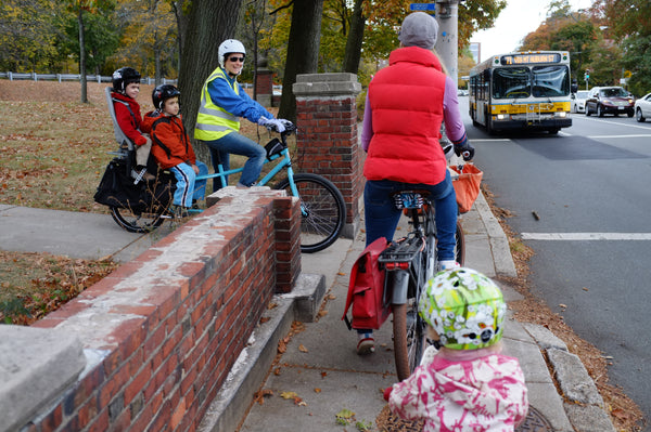Biking to School - Meeting other parents